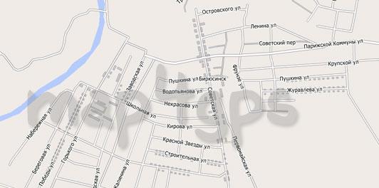 Карта Бирюсинск City Guide