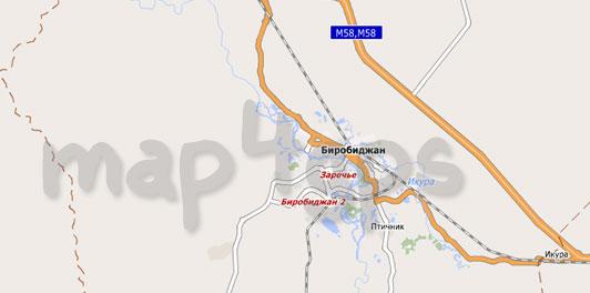 Карта Еврейской АО для City Guide