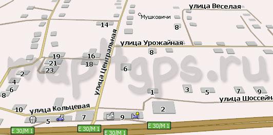 Карта Мушковичи Навител