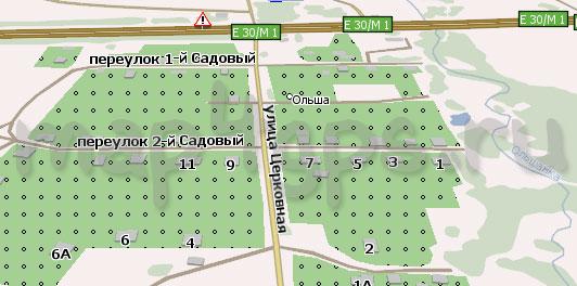 Карта Ольша Навител