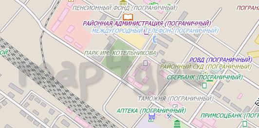 Карта Пограничный City Guide