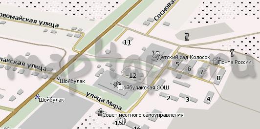 Шойбулак - обновленная карта для Навител
