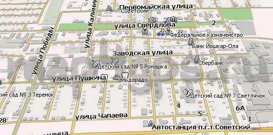 Новая карта пгт Советский для Навител